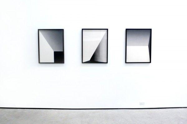 Tofer Chin's geometric artwork on view at Lu Magnus gallery
