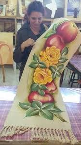 Resultado de imagem para pinterest tapete pintado com frutas