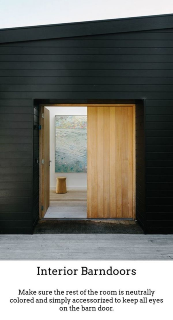 Interior Barndoors Gliding Barn Doors Are Not Only Meant For Country Side Barns Nowadays They Re Straightforward Tru House Exterior Architecture Black House
