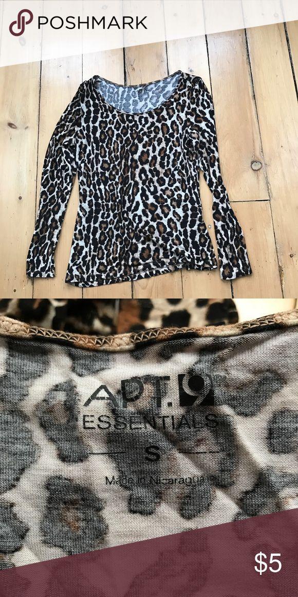 Cheetah print shirt Cheetah print long sleeved tshirt. Cute and comfy. Tops Tees - Long Sleeve