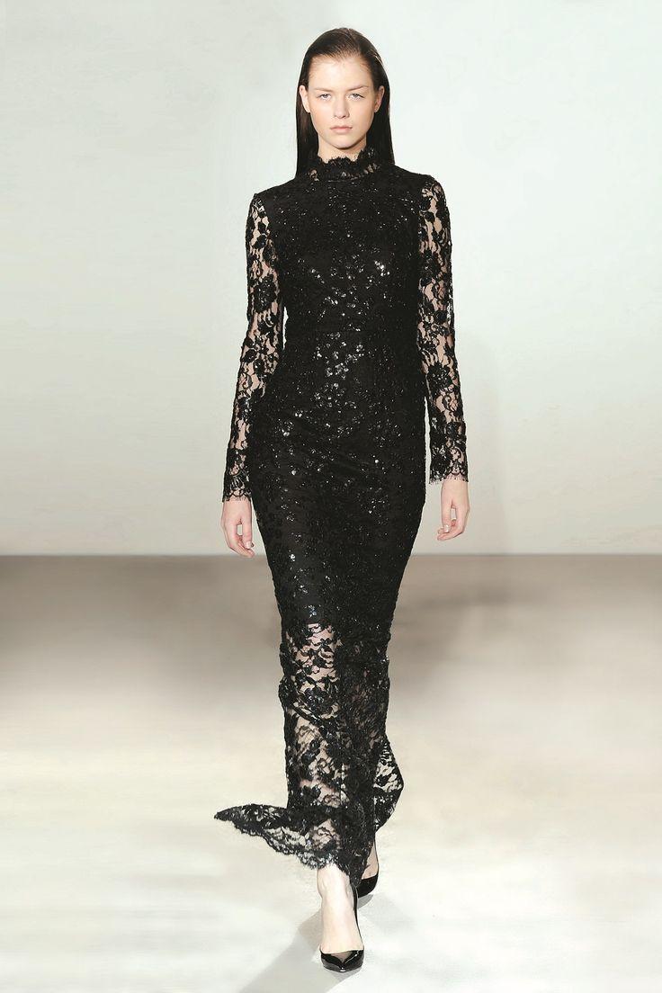 Collette Dinnigan Black Rain V Back Gown