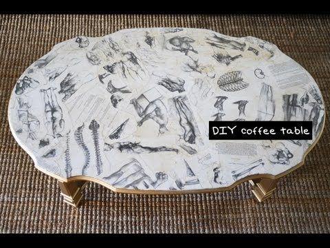 Mr. Kate - DIY home: art book decoupaged coffee table