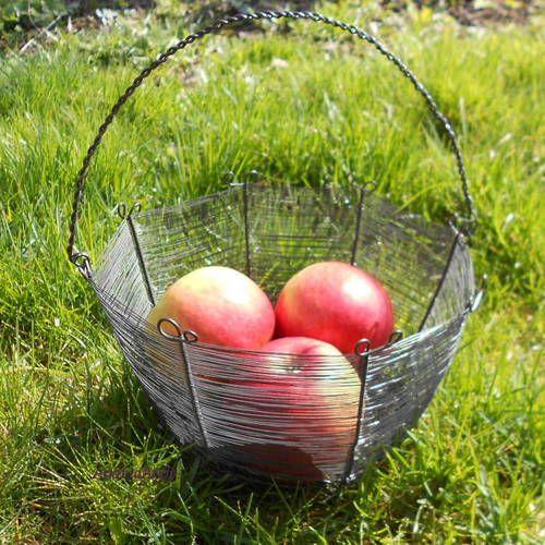 Košíček třeba na jablka :-) #handmade #dratovani #zahrada #rucniprace