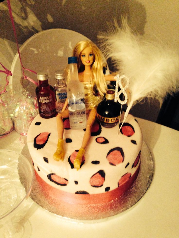 Drunk Barbie Cake 18th Birthday Food Pinterest Drunk