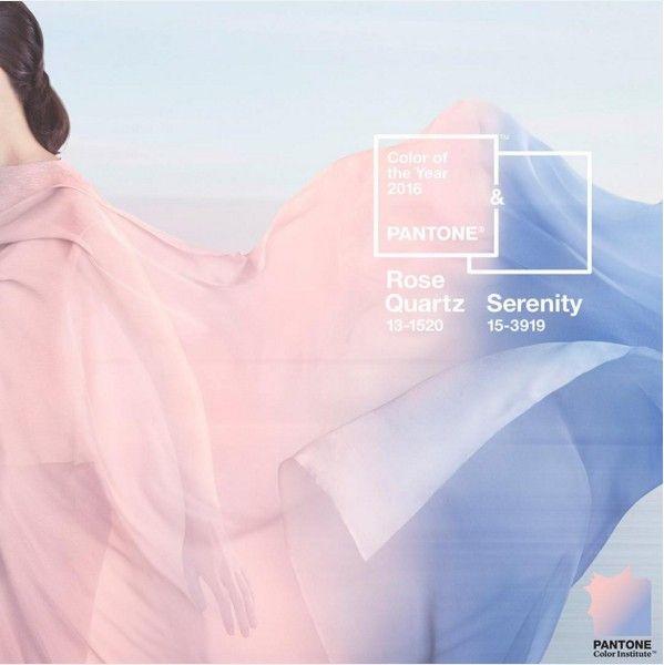 Rose Quartz et Bleu Serenity, les couleurs Pantone 2016....Les couleurs les plus chics de 2016 ont été révélées par Pantone : il s'agira du très doux 'Rose Quartz' et du bleu 'Serenity'. À l'opposé de la couleur robuste et terreuse de l'année 2015, l'association de ce rose chaleureux et de ce bleu rafraichissant rassure et inspire la sécurité, un antidote au stress de la vie moderne.