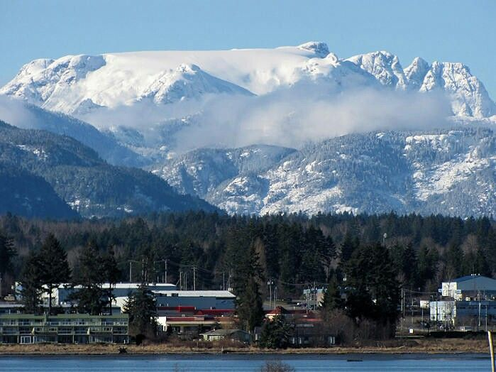 Beautiful Comox valley glacier. I have this framed. Never tire of looking at it. See it everyday on my way to work...