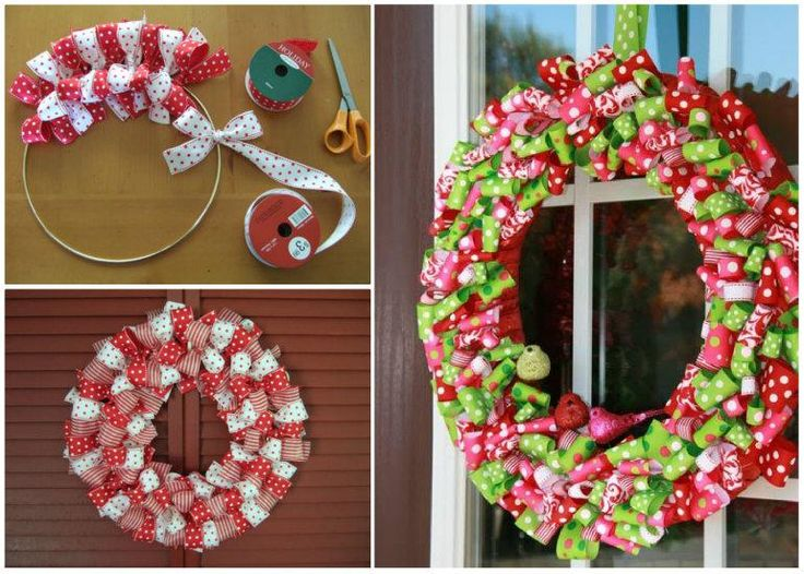 How to Make Ribbon Christmas Wreath