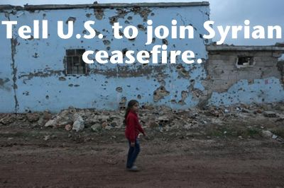 SIGN TO END THE SLAUGHTER OF INNOCENTS, PLEASE!!!  Tell the United States to Join in the Syrian Ceasefire