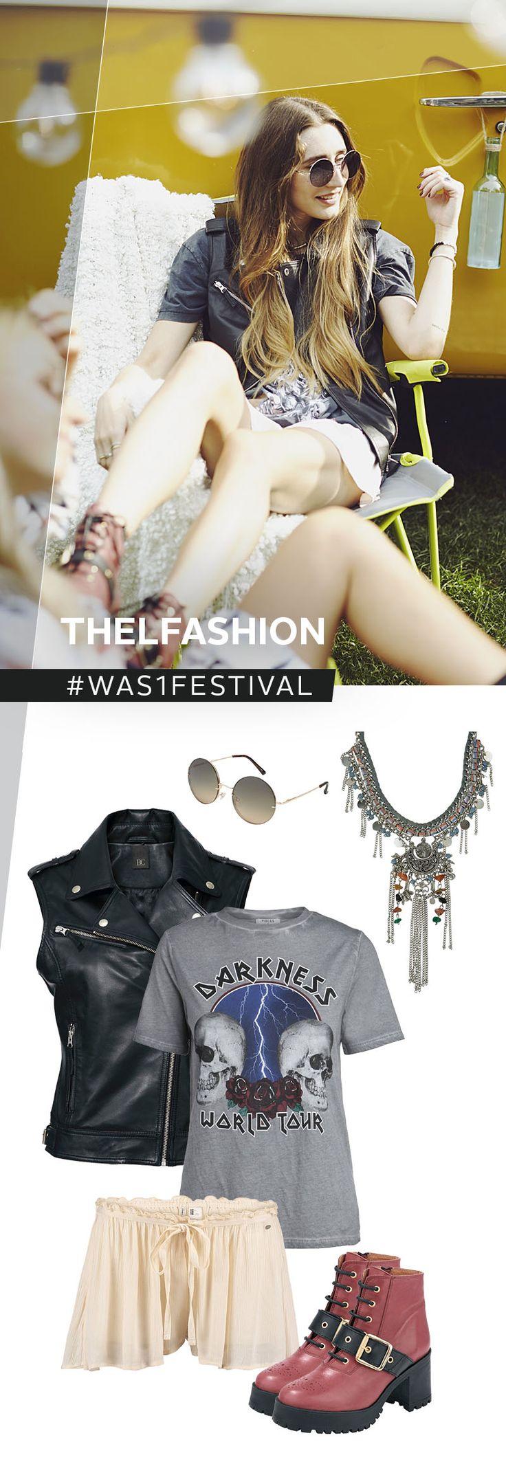 Gothic meets Metal meets Fashion! Das Festival-Outfit von @thelfashion beeindruckt mit einem außergewöhnlich Mix aus Leder, Skulls und verspielten Elementen wie der Walkshorts. Die krassen Boots und ein bisschen Ethnoschmuck runden den Look perfekt ab!