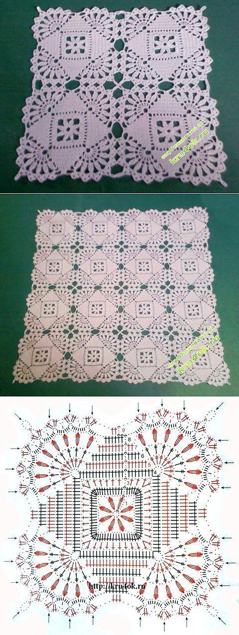 Crochet doily - trabalhar Lenuss - Crochet em kru4ok.ru | коллекция узоров крючком | Постила