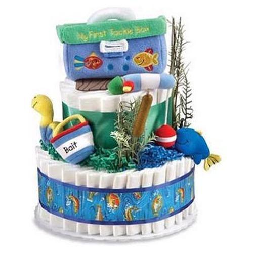 Gone Fishing Baby Shower Diaper Cake