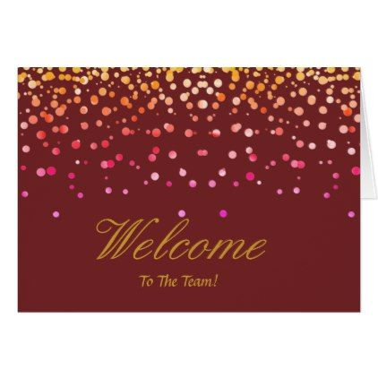 #Faux Gold Foil Confetti Elegant Sparkles Welcome Card - cyo customize design idea do it yourself diy