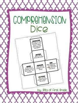 Comprehension Dice..fun activity to implement into your reading block!