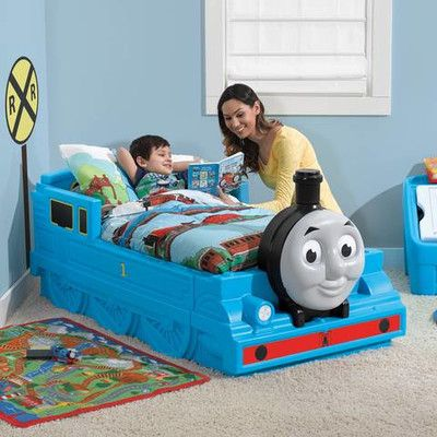 All aboard to dreamland in the Thomas the Tank Engine Toddler Bed by Step2.