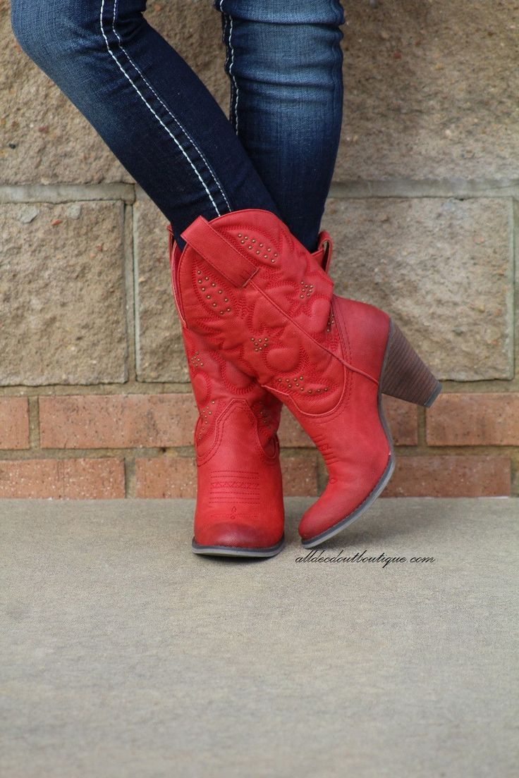 f7d53a6907f Very Volatile | Dallas Cowgirl Boots Red in 2019 | Colorful life ...