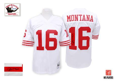 78ecbd28ac4 ... Mitchell and Ness Mens Joe Montana White Jersey) San Francisco Road NFL  Throwback Mens San Francisco 49ers ...
