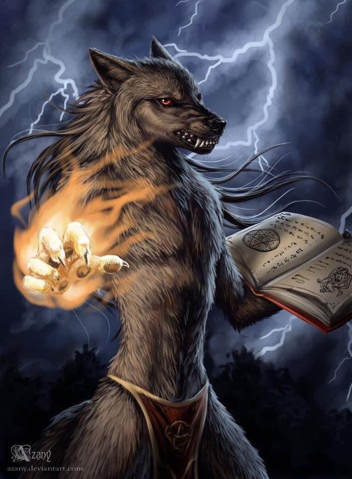 Картинки шамана с волком