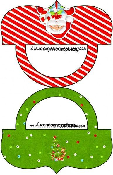 Saquinho de Balas Bolsinha Natal Vermelho e Verde