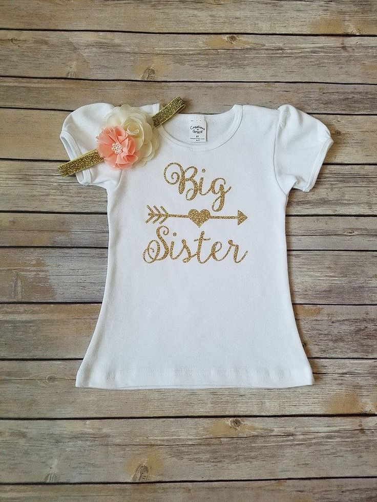Dress your little princess up in this super cute Little Sister Outfit. Outfit includes bodysuit and headband as seen in photo. Perfect for taking your baby girl home from the hospital, photo sessions