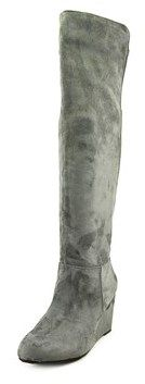 Chinese Laundry Unbelievable Women Round Toe Synthetic Gray Over The Knee Boot.