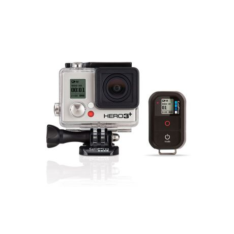 The GoPro Hero 3+ Silver Remote Bundle lets you capture all your breathtaking adventures, whether your GoPro camera is mounted on the end of your surfboard, the top of your helmet or the back of your ski-boat
