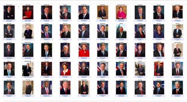 Screen Shot 06-14 -2016 ~~~50 Senators who allow continuing massacre of Americans through lack of gun legislation.