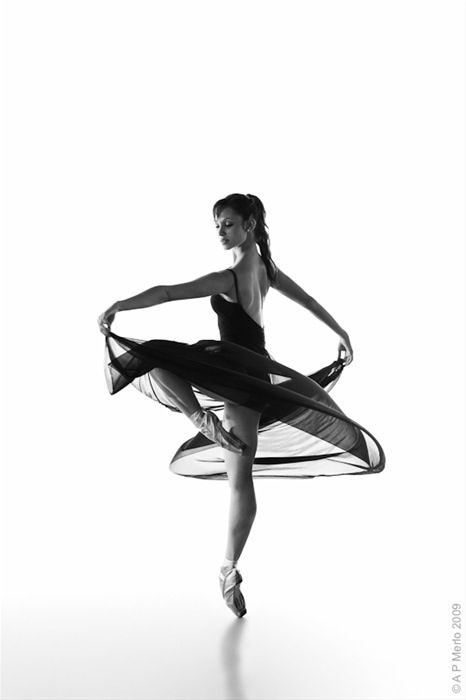 beautiful ballerina on perfect pointe