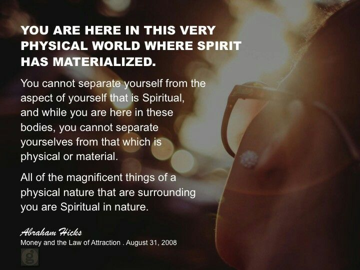 Abrahamhicks Financialwellbeing Materialized Abraham Hicks Quotes