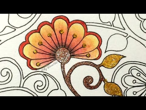 In This Video Im Going To Show You My Version Of How I Color The Heart Details From Secret Garden Coloring Book