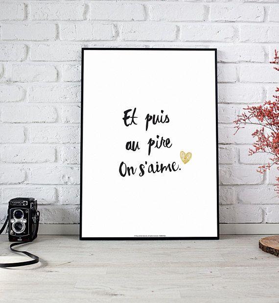 Déclarer votre amour avec des mots doux... A4 Affiche Collection #declaration #amour #couple #jetaime