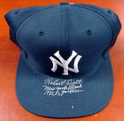 Robert Scott Autographed NY Yankees Hat New York Black Yankees 1946-50  PSA/DNA