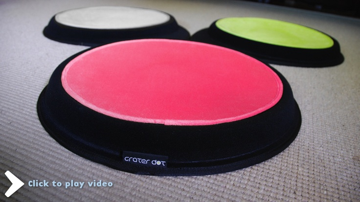 """""""The Crater Dot is a comfortable lounge for your pet. The polyester plush dot center provides an easy to clean and comfy spot to relax. The foam lounge base is polyester fabric over a moulded foam form that is contoured to provide just the right padding for you pet."""""""