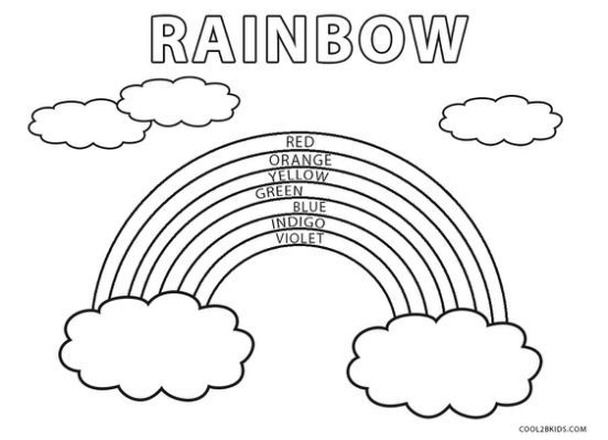 Free Printable Rainbow Coloring Coloring Pages For Kids Coloring Pages Rainbow Pages