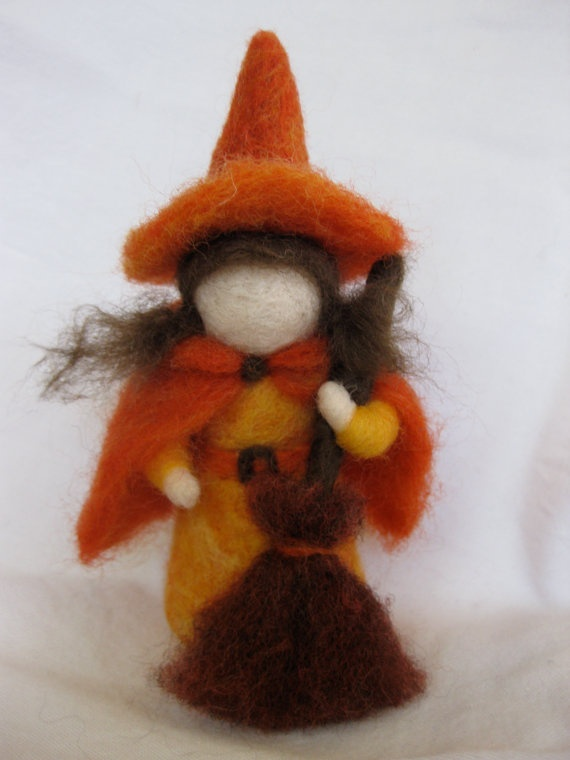 Waldorf-inspired Needle-felted Witch