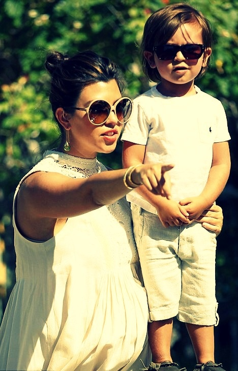 Kourtney Kardashian and Mason Disick. Cutest kid EVER!!