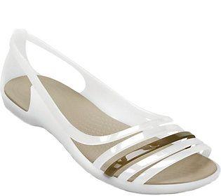 Crocs Huarache Flat Sandals - Isabella Huarache