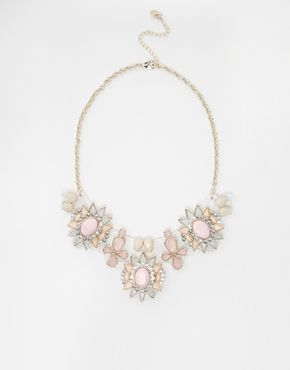 Lipsy Acrylic Plate Flower Collar Necklace