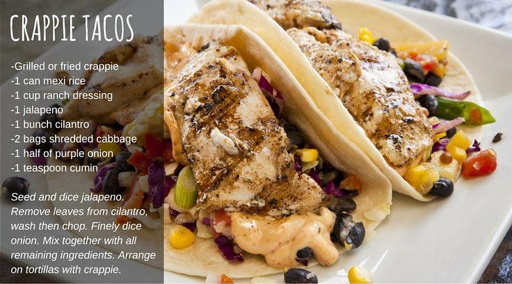 Best crappie taco recipe                                                                                                                                                                                 More