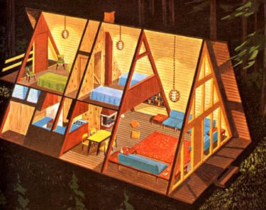 A-Frame Cabin....Makes me Think of MY MAMA!!! I MISS HER SO VERY MUCH!!!!