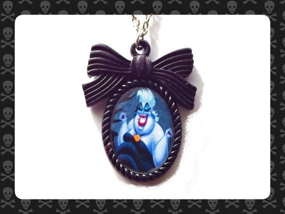 Ursula Disney Villains Inspired Bow Cameo by HiddenTreasures13