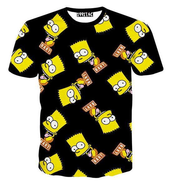 High Quality Bright Men Tops New Fashion Cotton T Shirt 3d Tshirt Clothes newest style fashion T-Shirt