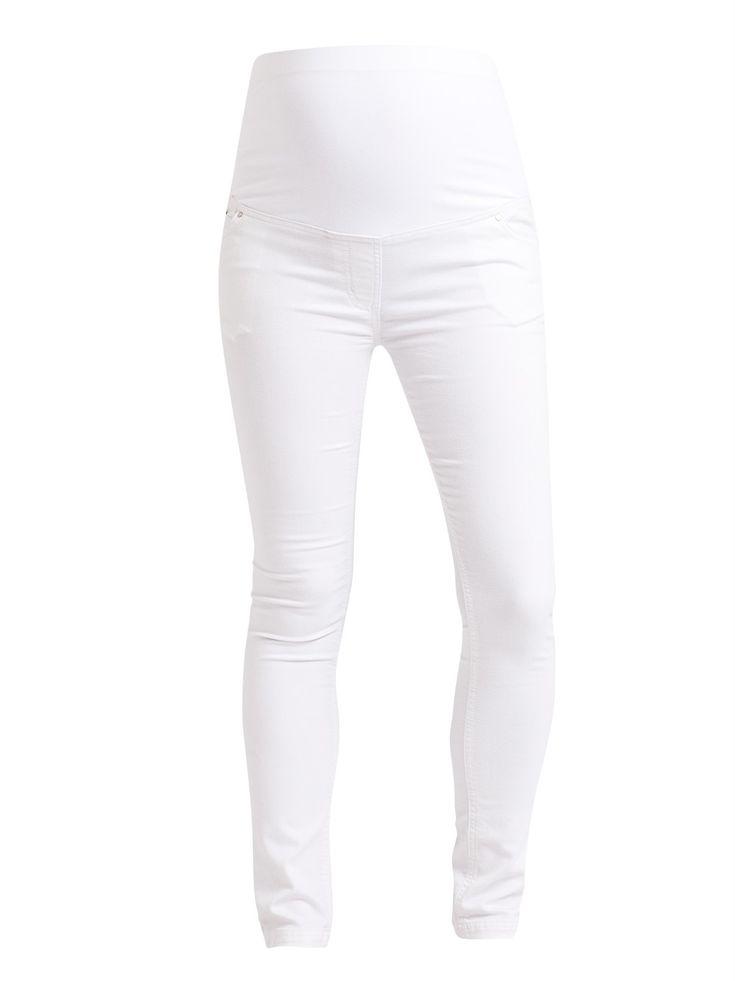 White Superstretch Maternity Skinny Jeans   JoJo Maman Bebe