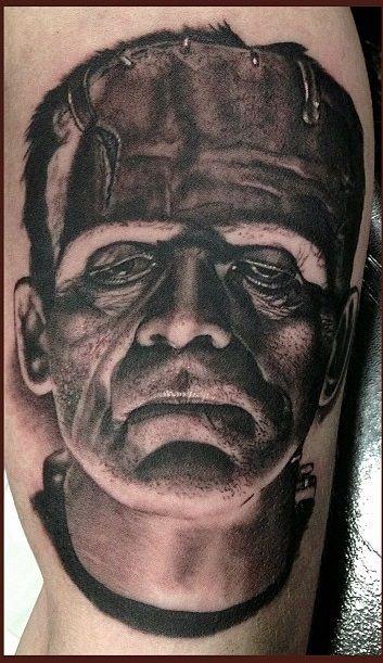 #Wip started at Last Rites. - Timothy Boor (Kokomo, IN) LIKE US Facebook: www.facebook.com/Tattooedink  FOLLOW BLOG: http://tattooedpage.tumblr.com/ #tattoos #tattoo #tattooed #art #ink #artist #realistic #realism #tattooartist #awesometattoos #besttattoos #blackandgreytattoos #colortattoos #followme #TimothyBoor #Frankenstein