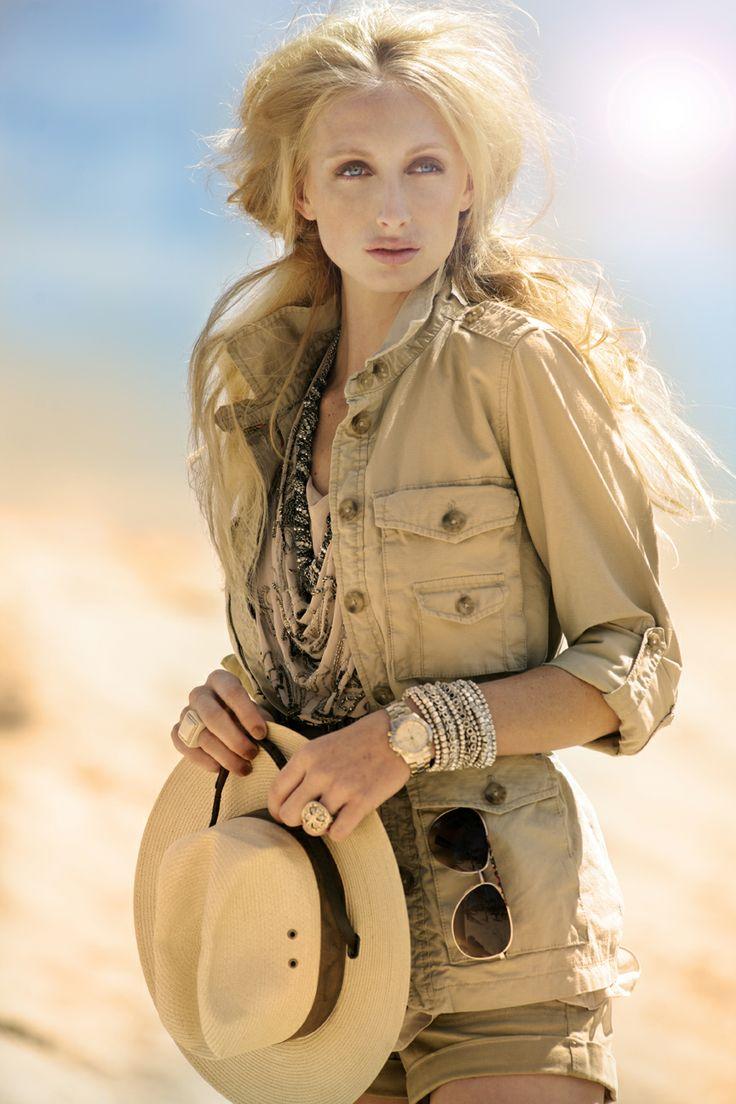 safari style jacket...like it. the hat too.
