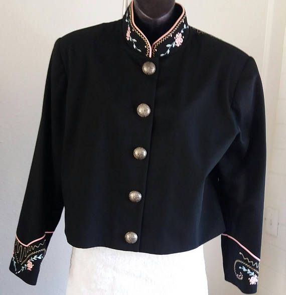 Vintage 90s Bmw Designs Fort Worth Tx Women S Embroidered Western Jacket Large 100 Wool Ultra Suede Trim Rayon Acetate Lining Vintage Western Wear Bmw Design Western Jacket