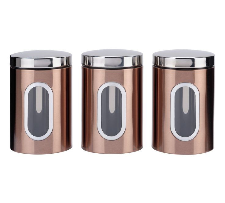 Buy Addis Set of 3 Storage Jars - Black and Copper at Argos.co.uk, visit Argos.co.uk to shop online for Storage sets and utensil holders, Kitchen storage, Cooking, dining and kitchen equipment, Home and garden