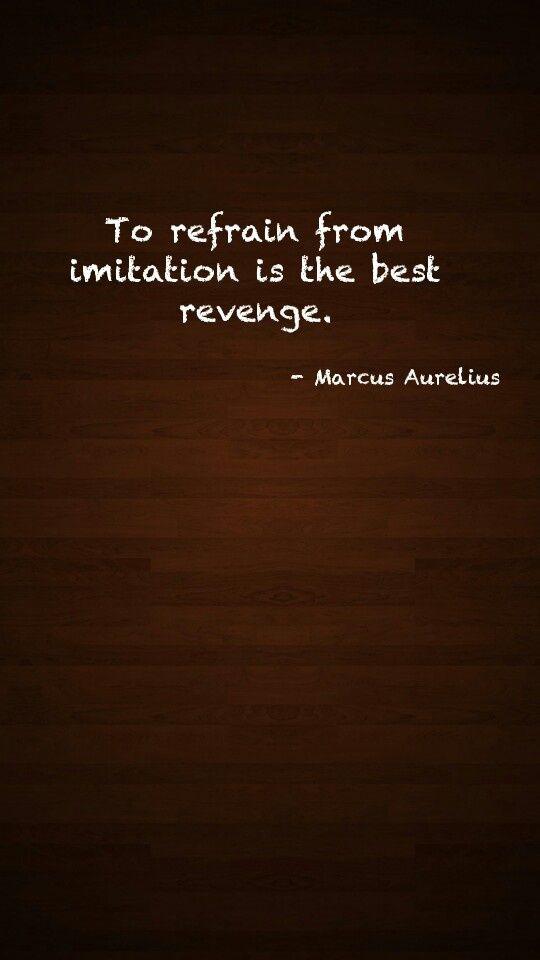 Marcus Aurelius Quotes: To refrain from imitation... Marcus #Aurelius Quote