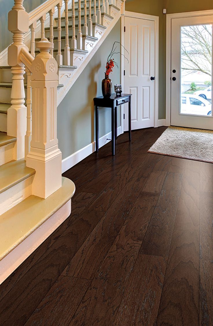 Who wouldn't love to come home to this elegant, rich PERGO Max Chocolate Oak engineered hardwood?