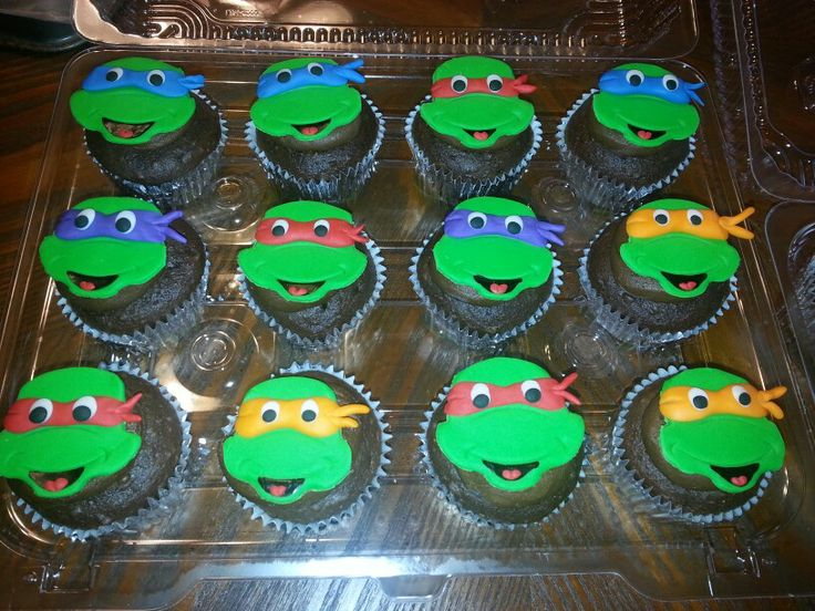 Ninja Turtle Cupcakes For Childrens