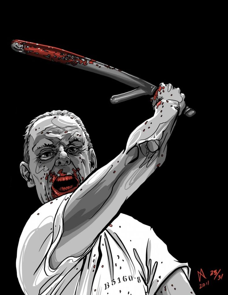"""Illustration of Anthony Hopkins as Hannibal """"the Cannibal"""" Lecter, from the movie, The Silence of the Lambs."""